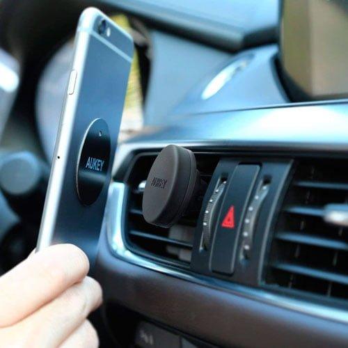 soporte movil coche magnetico rejilla